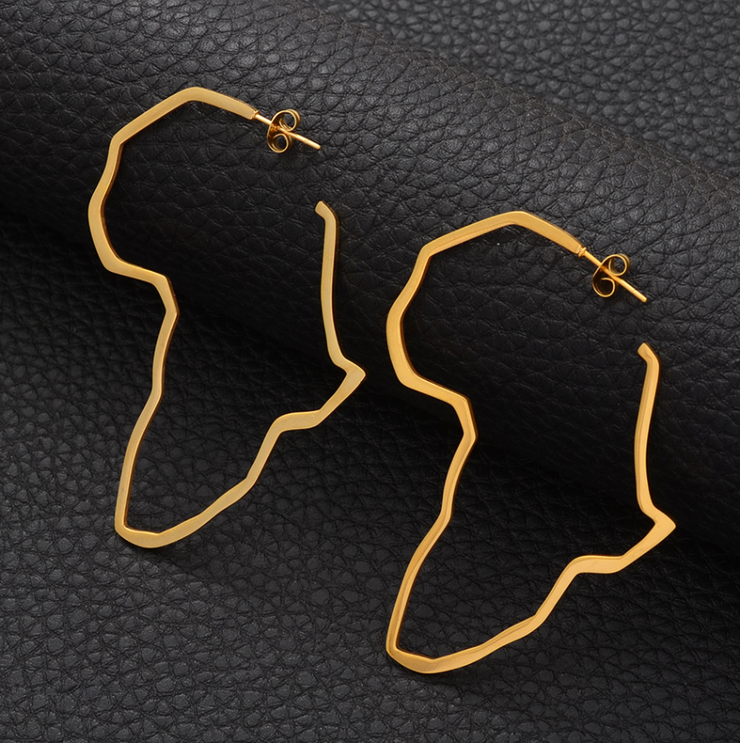 AFRICA HOOP EARRINGS - Shop Yasmine Bianca