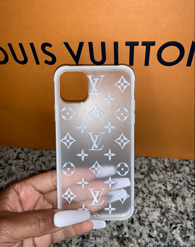 LV FROSTED CLEAR CASE - Shop Yasmine Bianca