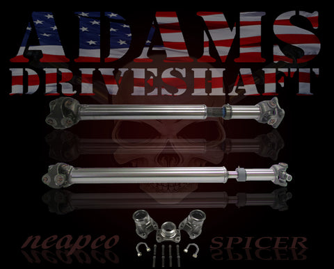 ADAMS DRIVESHAFT JK FRONT & REAR 1310 CV DRIVESHAFT PACKAGE with SPICER GREASABLE [HEAVY DUTY SERIES]