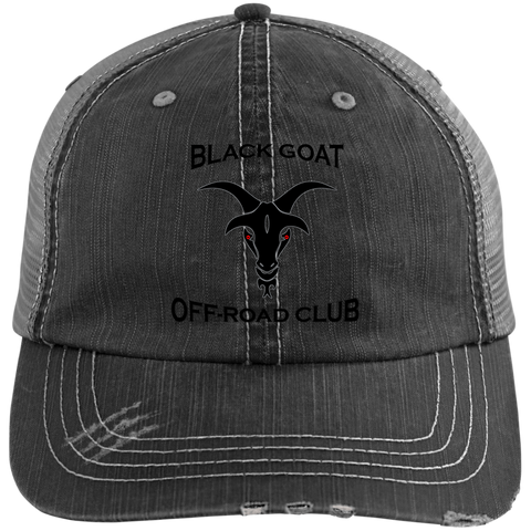 BGOR Distressed Unstructured Trucker Cap