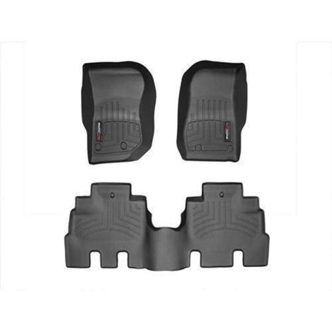 2014+ Jeep Wrangler (JK) WeatherTech Front and Rear Floor Liner Kit (Black) - FLJK1416