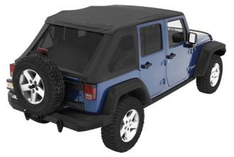 Bestop Trektop NX with Tinted Windows and without Doors in Black Diamond - 56823-35