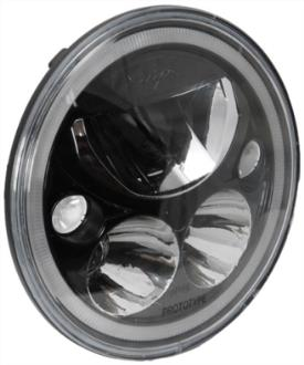 Vision X Lighting Vortex 7 Inch Round LED Headlamp with Halo Kit (Black) - 9892825