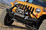 Poison Spyder Brawler Lite Front Midwidth Bumper with Brawler Bar and Tube Gussets (Bare) - 17-63-010-DBT