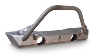 Poison Spyder Brawler Lite Front Bumper with Shackle Tabs, Brawler Bar and Light Tabs (Bare)- 17-59-010-DBL