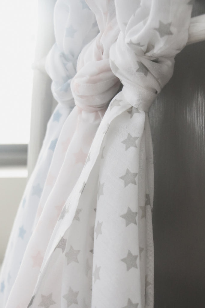 MUSLINFILT Little Star Grey