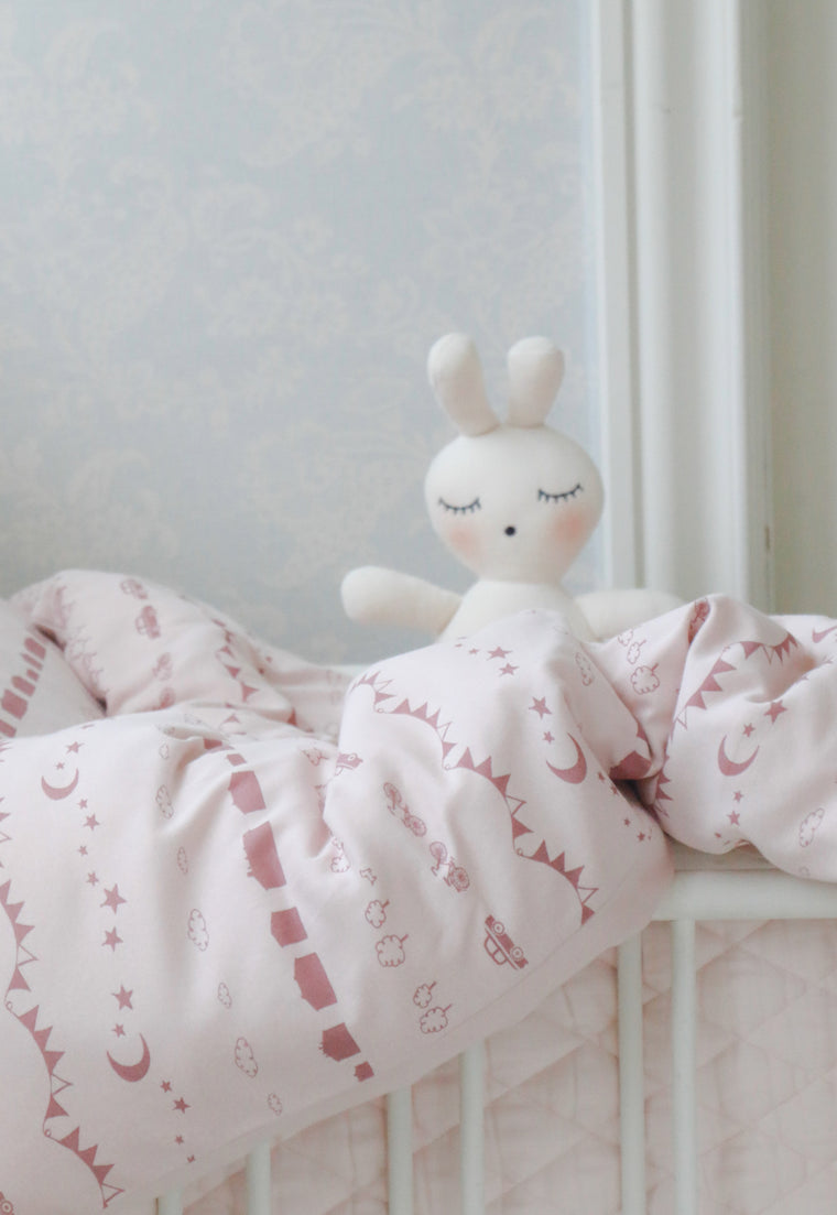 BÄDDSET VAGN & VAGGA Little City Soft Pink