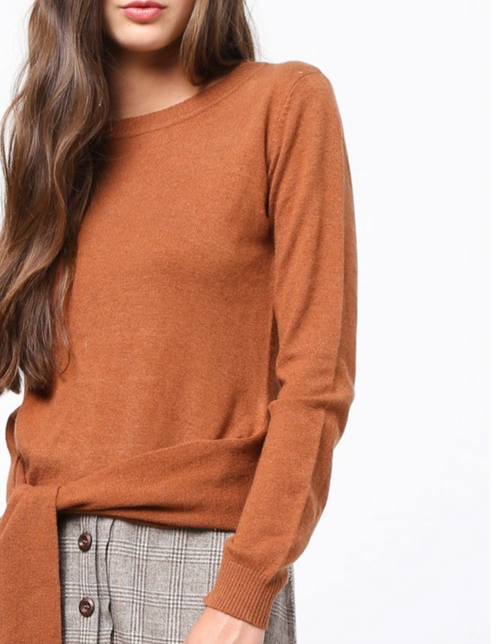 Rust Sash Sweater