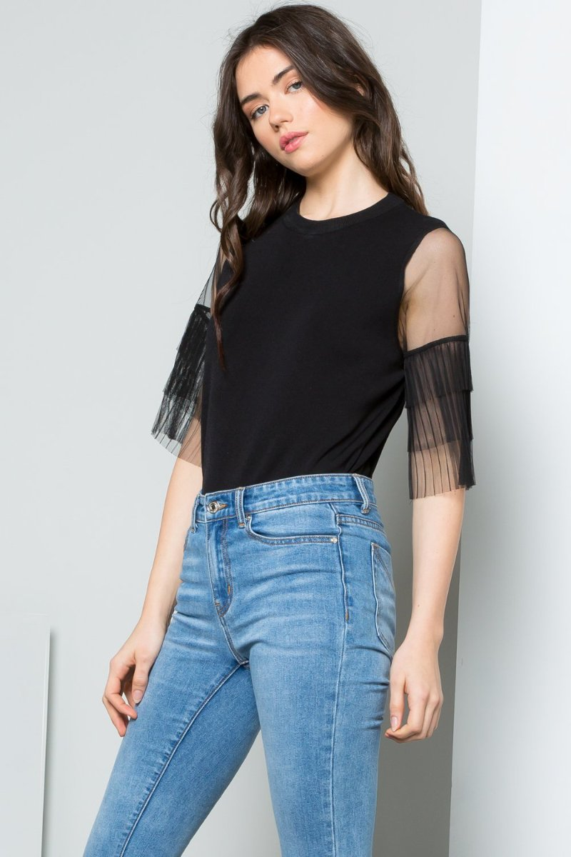 Luxe Tulle Knit Top