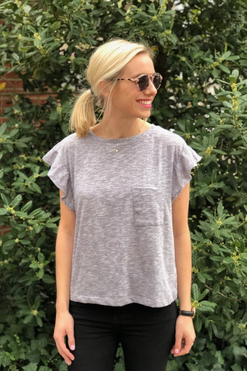 Heather Grey Pocket Tee