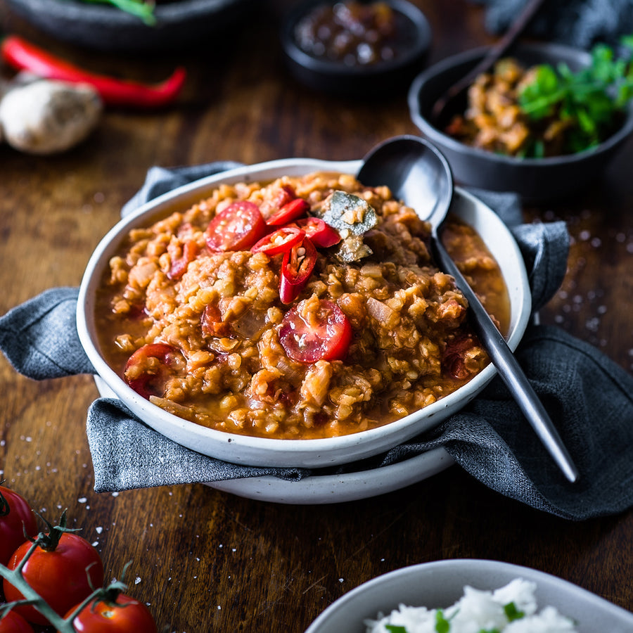 South Indian Spiced Tomato Dahl