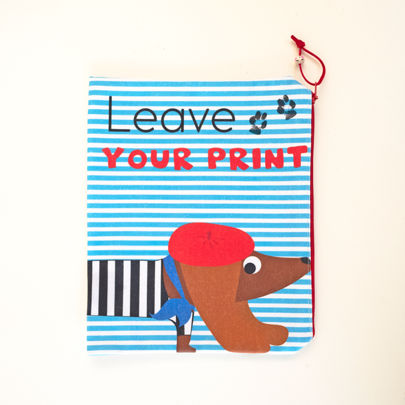 "Astuccio ""LEAVE YOUR PRINT"" Bassotto"