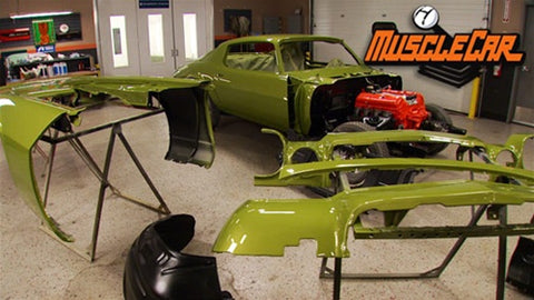 "MuscleCar DVD (2011) Episode 09 - ""Project Limelight Paint, Stripes and Wheels Refurb"""