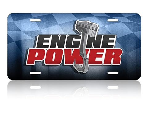 Engine Power License Plate