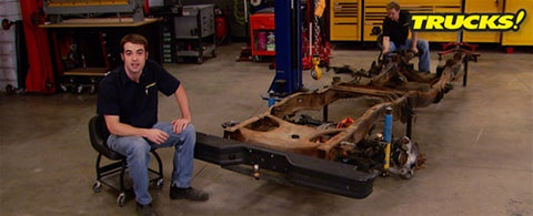 "Trucks! DVD (2010) Episode 14 - ""Rolling Thunder Part 7: Independent Rear Suspension Install & Upgrade"""