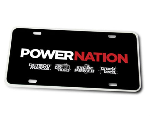 PowerNation License Plate