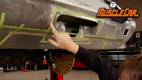 "MuscleCar DVD (2012) Episode 09 - ""Oldsmobile Rear Bumper Fab and Floor Pans"""