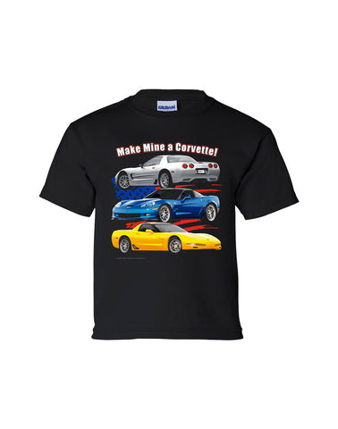 C5-C6 Corvette Youth Shirt (TDC-178Y)