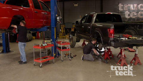 Truck Tech DVD (2020) Episode 08 - Ram SRT-10 and F150 Get Lowering Kits: Muscle Trux Build-Off Suspension