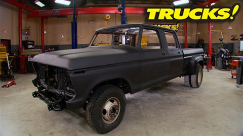"Trucks! DVD (2010) Episode 17 - ""Super Dually Part 5: Sound Insulation & Bedliner Installation"""