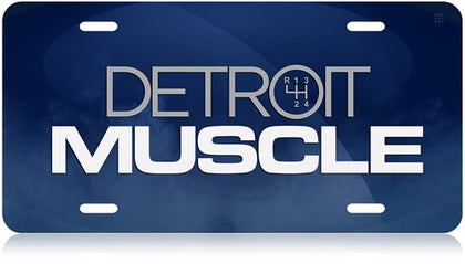 Detroit Muscle License Plate NEW!