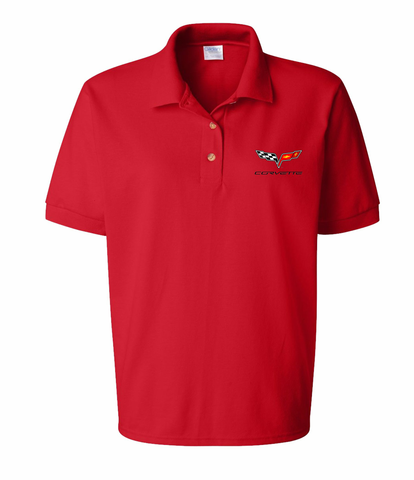 C6 Corvette Ladies Polo Shirt (LPS-017)