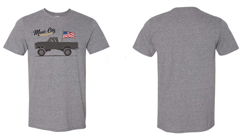 Music City Trucks - Flag Dentside - Gray