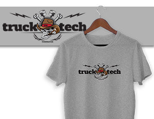 Truck Tech Logo T-Shirt - Gray