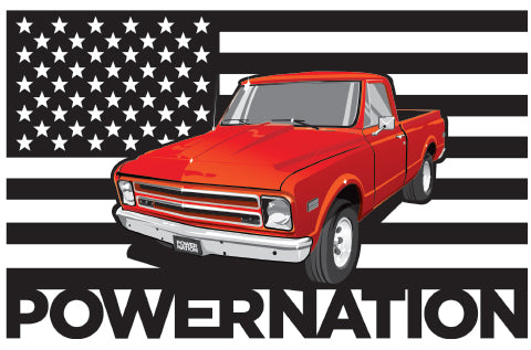 Stars & Stripes Pickup Sticker