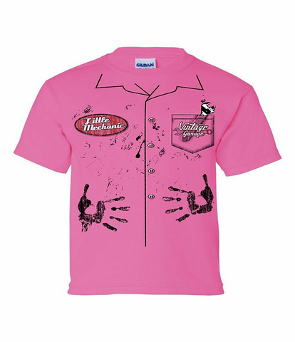 Pink Mechanic Youth Shirt (VIN-006Y)