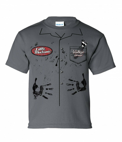 Charcoal Mechanic Youth Shirt (VIN-006Y)
