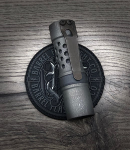 A Titanium Grumpys EDC Battle Finish with Blackwashed Ring