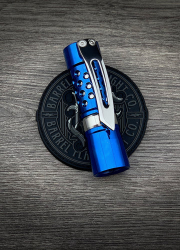 High Polished Ti with Blue Ano and 3D Milled Ti Clip