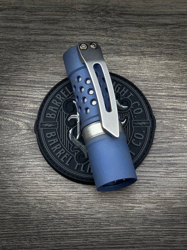 Sandblasted Blue Anodized Ti Barrel 3D Clip
