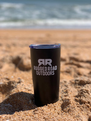 Rugged Road Outdoors 20oz Tumbler Black at the Beach