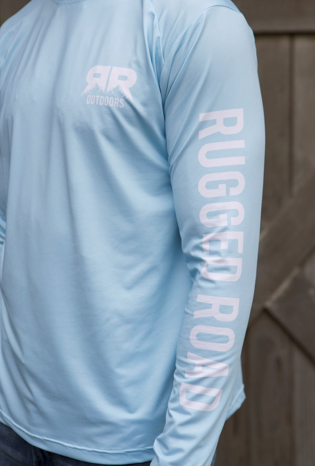 Rugged Road Long Sleeve Performance Shirt Aqua Sleeve