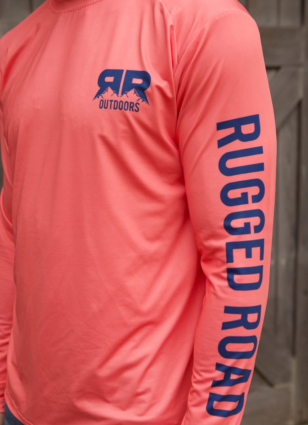 Rugged Road Long Sleeve Performance Shirt Coral Sleeve