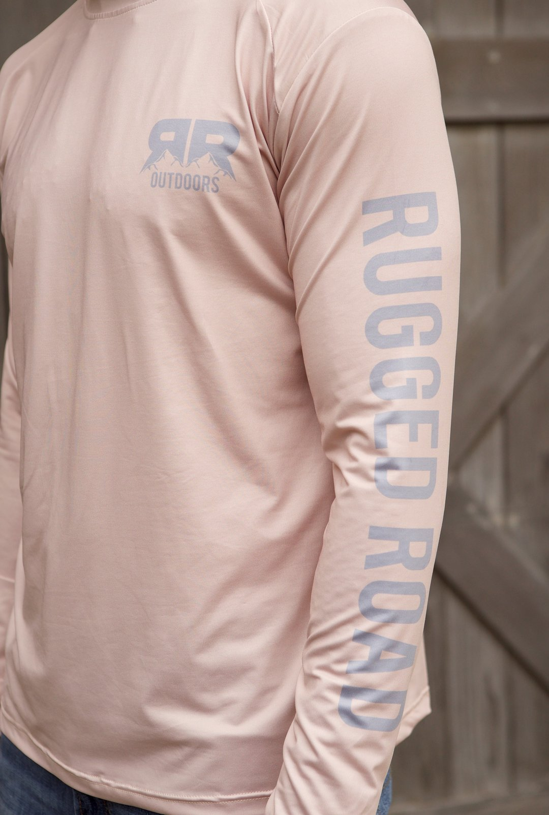 Rugged Road Long Sleeve Performance Shirt Coral Sandstone