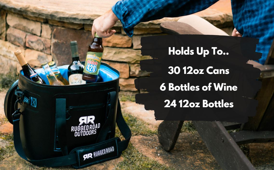 Rugged Road Outdoors 30 Can Soft Cooler How Much It Can Hold