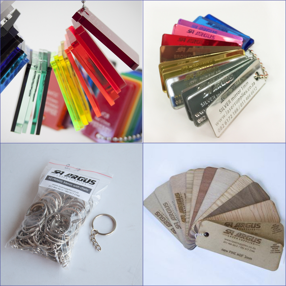See SAMPLE Packs & Keyrings