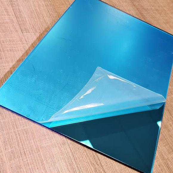 Mirror Bright Blue 3mm 200x290mm