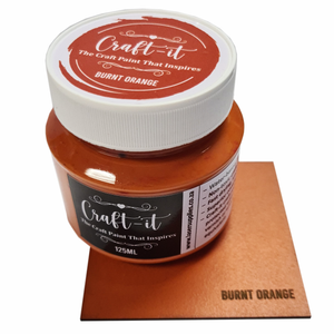 Craft-It Paint 125ml - Burnt Orange