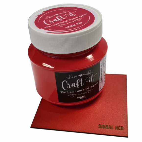 Craft-It Paint 125ml - Signal Red