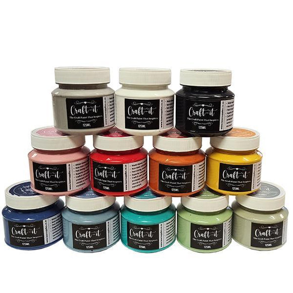 Craft-It Paint Set - 12 colours 125ml