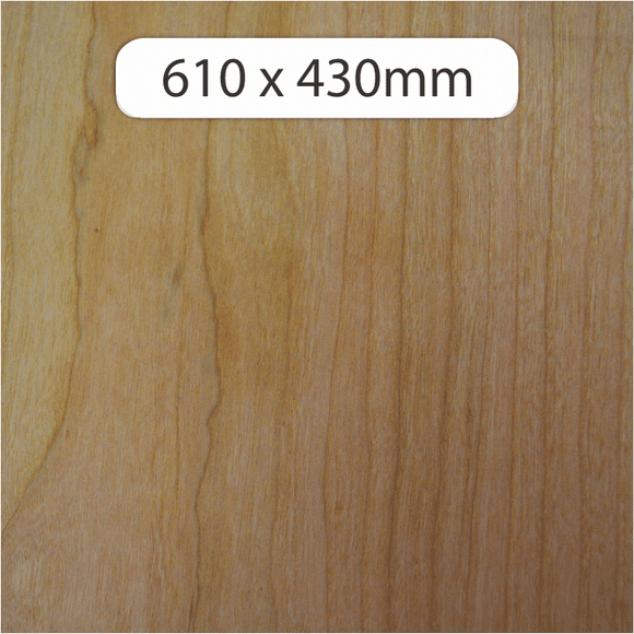 NEW 6mm MDF with Cherry veneer 600x430mm