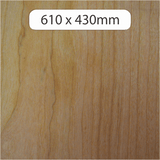 6mm MDF with Cherry veneer 600x430mm