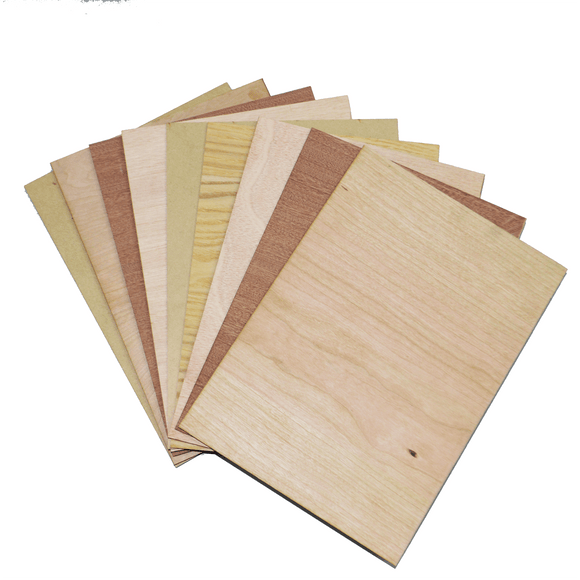 Laser cut wood 9-Piece A4 Sample pack from Laser Supplies in SA