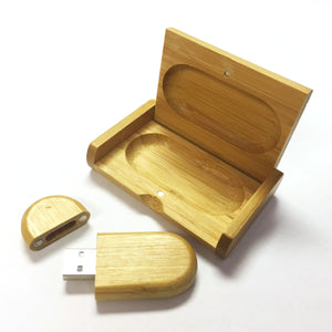 8GB Bamboo USB with Flip lid Box