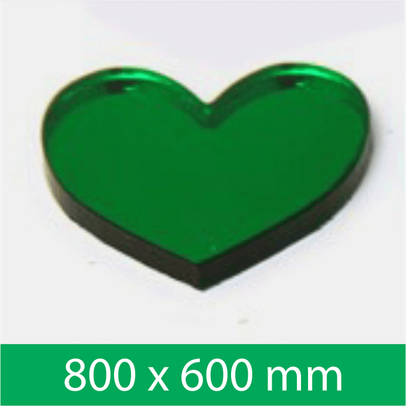 Mirror Green 3mm 800x600mm