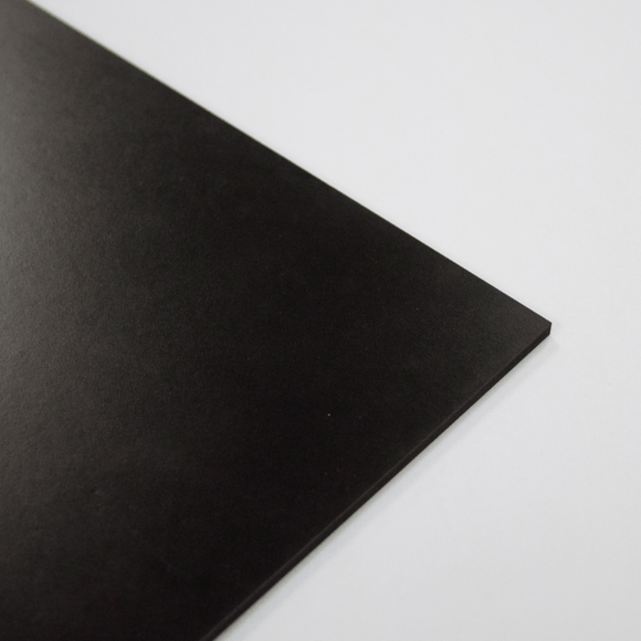 3mm Melamine on MDF - Black 610 x 430mm
